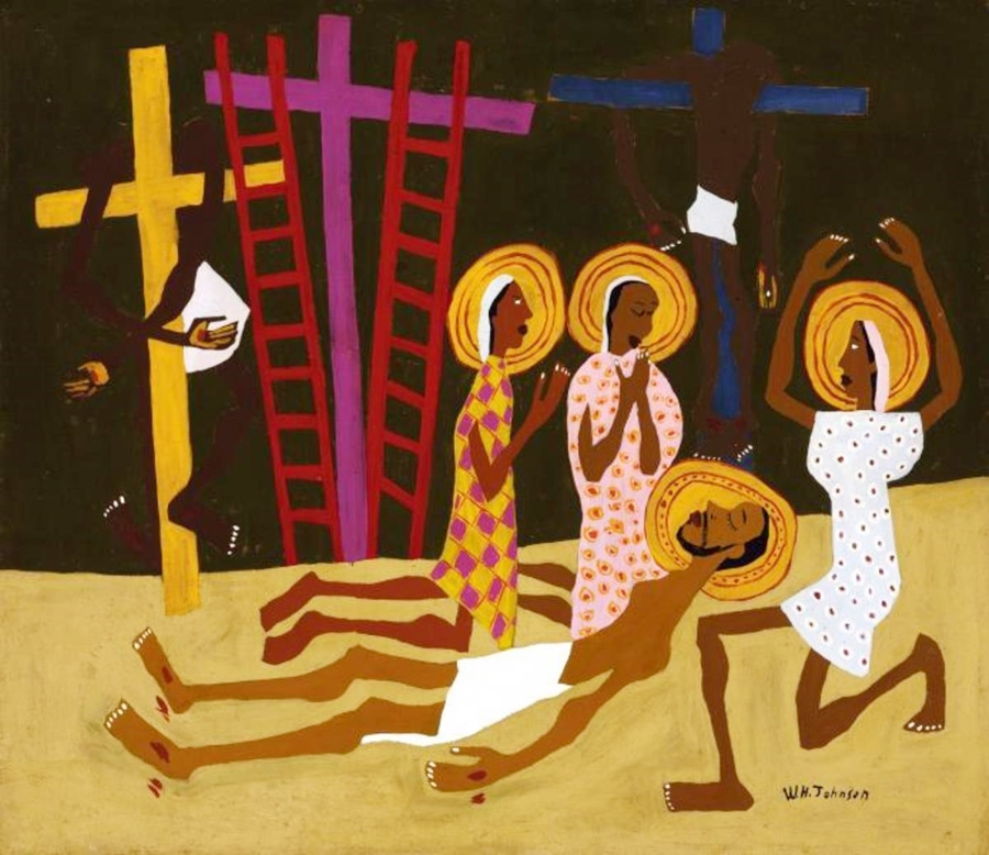 William H Johnson Lamentation ca 1944 oil on fiberboard Smithsonian American Art Museum Gift of the.jpg